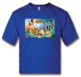 Heavenly Treasure Adult Royal Blue T-shirt, Small