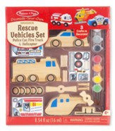 Decorate Your Own Rescue Vehicles Set