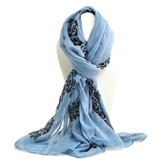 Cross of Roses Scarf, Blue