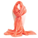 Cross of Roses Scarf, Coral