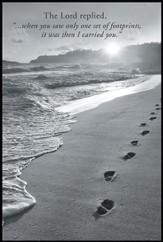 Footprints Mini Mounted Print