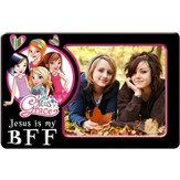 Magnetic Photo Frame, Jesus is My BFF, Little Miss Grace