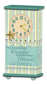 Treasured Times Clock, Every Moment Is Full Of Wonder, Stripe