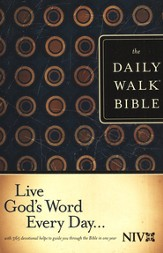 The NIV Daily Walk Bible, softcover (rev) 1984