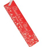 Personalized, Blessed to be a Mom Bookmark, Red