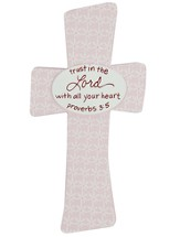 Trust in the Lord Baby Cross, Pink