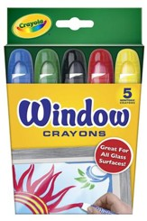 Crayola, Window Crayons, 5 Pieces