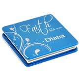 Personalized, Faith Compact Mirror, Blue