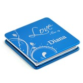 Personalized, Love Compact Mirror, Blue