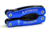 Personalized, Cross Blue Multi Tool