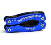 Personalized, Blessed is the Man Blue Multi Tool