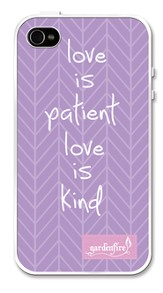 Love Is Patient, iPhone 4 Case