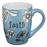 Faith Mug, Blue