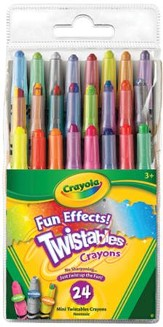 Crayola, Fun Effects Mini Twistable Crayons, 24 Pieces