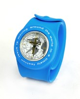 Silicone Watch, Jesus Is Moving Around the World, Blue, Large