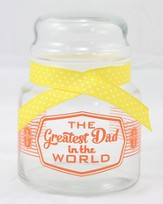 The Greatest Dad In the World Candy Jar