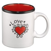 Love Heart Mug  - Slightly Imperfect