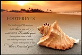 Footprints on the Shore Mini Mounted Print