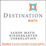 Saxon Grade K Destination Math Level 1 12-Month Online Subscription (Content Only)