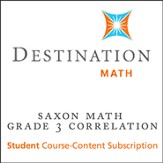 Saxon Grade 3 Destination Math Levels 1, 2 & 3 12-Month Online Subscription (Content Only)
