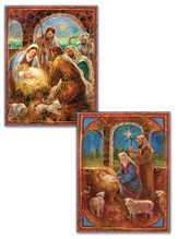 Manger Assorted Christmas Cards, Box of 18