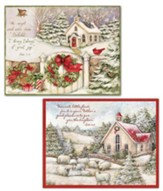 Little Church Assorted Christmas Cards, Box of 18