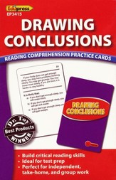 Drawing Conclusions Reading Comprehension Practice Cards - Red 2.0-3.5