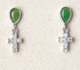 Cross Earrings/Jade