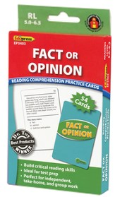 Fact or Opinion Reading Comprehension Practice Cards - Green 5.0-6.5