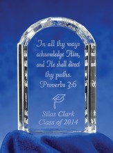 Class of 2014 Personalized Graduation Crystal Tablet Plaque