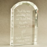 Class of 2015 Personalized Graduation Crystal Tablet