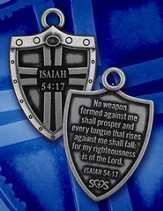 Shield of Strength Necklace, Isaiah 54:17