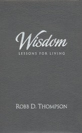 Wisdom: Lessons for Life Devotional, Black Genuine Leather
