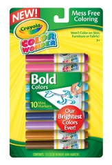 Crayola, Color Wonder Mini Markers, Bold Colors, 10 Pieces