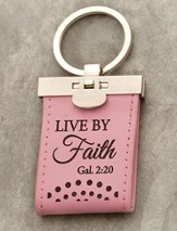 Live by Faith Keychain