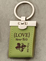 Love Never Fails Keychain