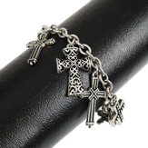 Dangle Crosses Charm Bracelet