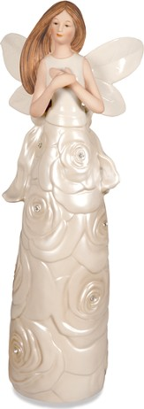 Radiance Rose Angel Figurine, Folded Hands
