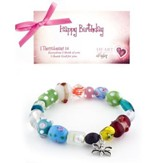 Happy Birthday Bracelet, Butterfly Charm
