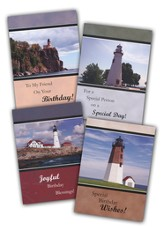 Lighthouses Birthday Cards, Box of 12