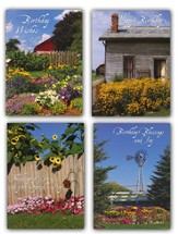 Country Gardens Birthday Cards, Box of 12
