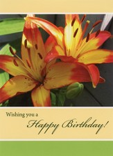 Lilies of the Field Birthday Cards, Box of 12