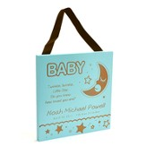 Personalized, Baby - Gift from God Plaque, Blue