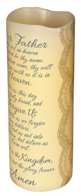 Lords Prayer Flameless Candle