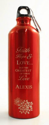 Personalized Love Water Bottle, Red