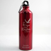 Personalized Eagle's Wings Water Bottle, Red