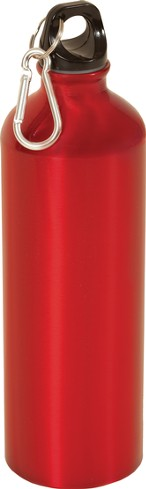 Blank/Red Metal Water Bottle