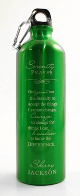 Personalized Serenity Water Bottle, Green