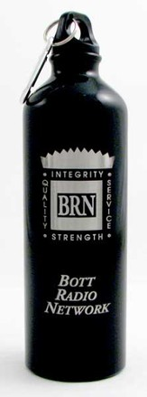 Bott Network Metal Water Bottle, Black