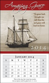 2014 Mini Magnetic Calendar, Amazing Grace